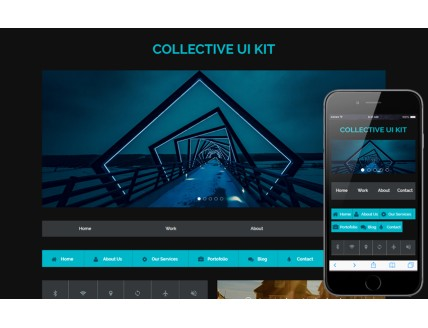 Collective UI Kit A Flat Responsive Website Template