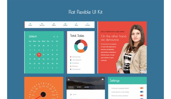 Flat Flexible UI Kit Flat Bootstrap responsive Web Template