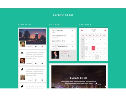 Exclude UI Kit a Flat Bootstrap Responsive Web Template