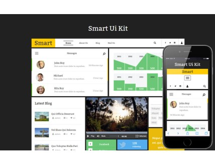 Smart Ui Kit a Flat Bootstrap Responsive Web Template