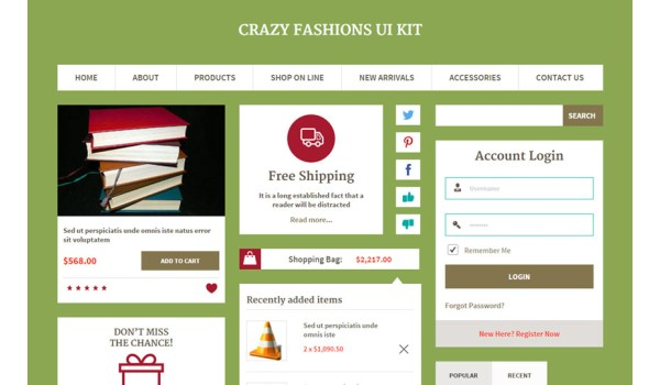 Crazy Fashions UI Kit a Flat Bootstrap Responsive Web Template