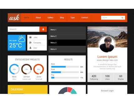 Ask UI Kit a Flat Bootstrap Responsive Web Template