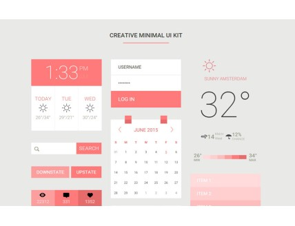 Creative Minimal UI Kit a Flat Bootstrap Responsive Web Template