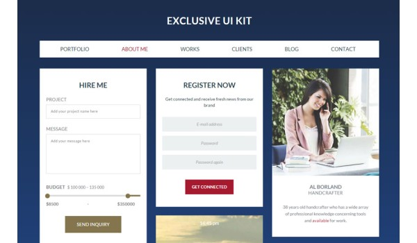 Exclusive UI Kit a Flat Bootstrap Responsive Web Template