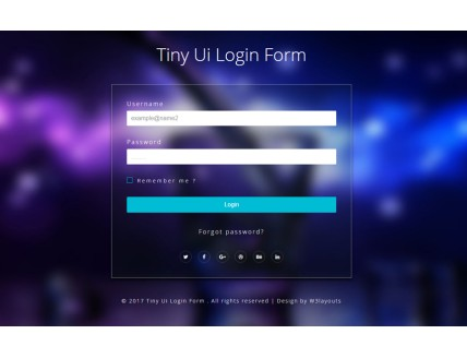 Tiny Ui Login Form Flat Responsive Widget Template