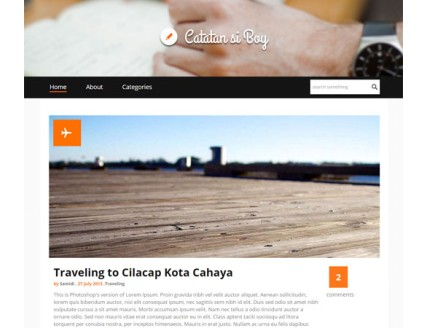 full Catatan si Boy a Blogging Category Flat web template