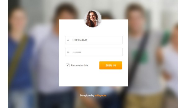 full Login Form Flat Animated Template