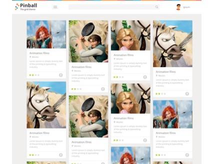 full Pinball Grid Style Blog Flat web template
