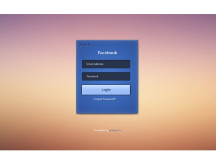 full Facebook Login Form