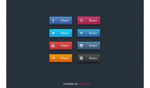 full Social Media Icon Set