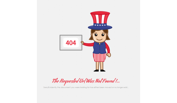 full 404 Event Page Not Found Mobile Web Template