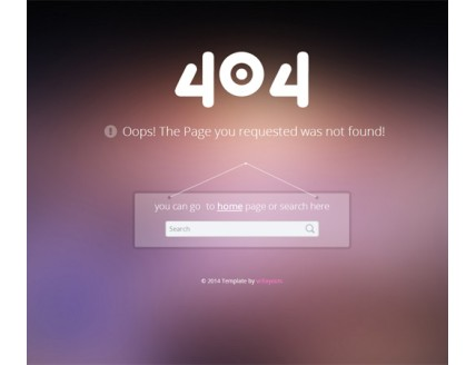 full 404 Error Page Responsive web Template