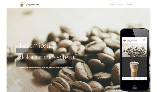 full Coffelariya a Food Category Flat Bootstrap