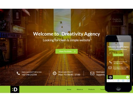 full Dreativity a Personal Portfolios Flat Bootstrap