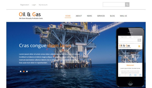 full il and Gas a Industrial Category Flat Bootstrap