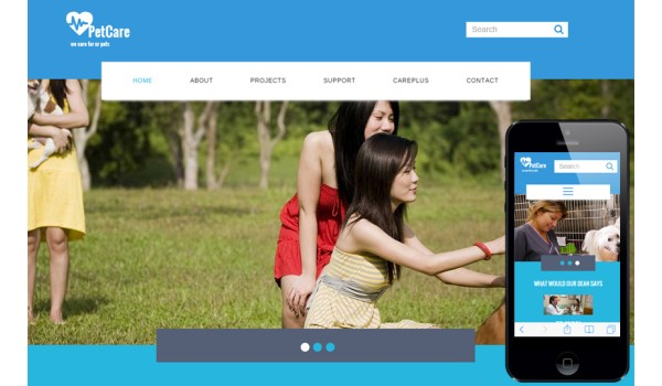 full Pet Care a Animal Category Flat Bootstrap