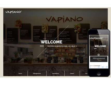 Vapiano a Hotel Category Flat Bootstrap