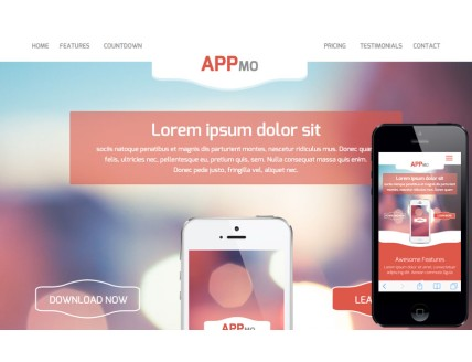 full Appmo a Mobile App based Flat Bootstrap