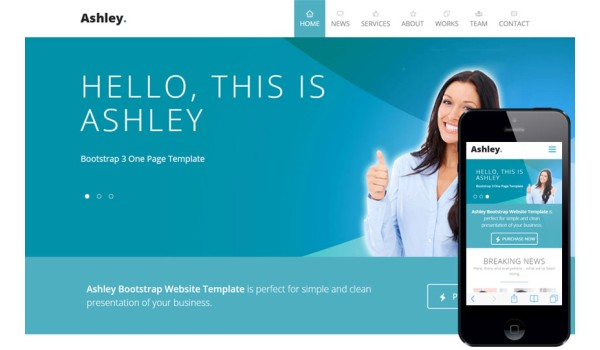 full Ashley a Corporate Agency Flat Bootstrap