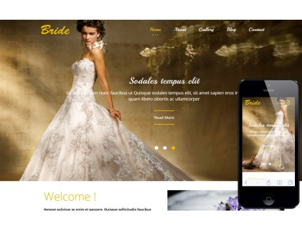 full Bride a Flat Wedding Planner Bootstrap
