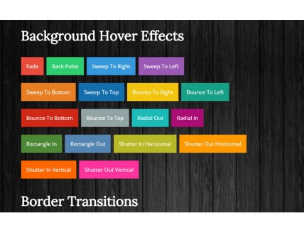 full Css3 Link Hover Effects Widget Template