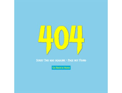 full Deadlink 404 page not found template
