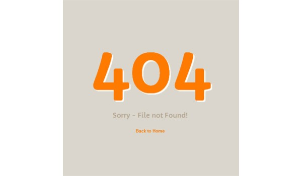 full 404 page not found Mobile web template