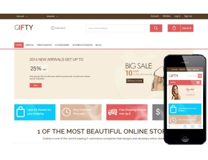 full Gifty a Flat Ecommerce Bootstrap Responsive Web Template
