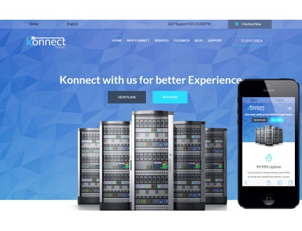 full Konnect a Web Hosting Flat Bootstrap