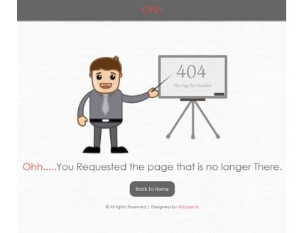 full Ohh 404 Mobile Website Template