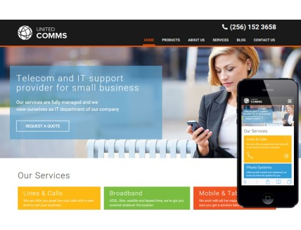 full United Comms a Corporate Category Flat Bootstrap
