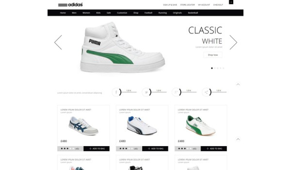 full Whity, a Clean,  Flat E commerce Responsive web template