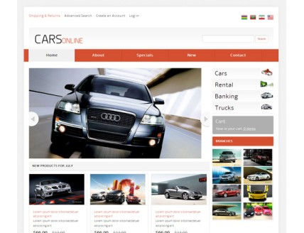 full Cars Online automobile Mobile Website Template