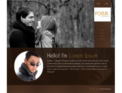 full Focus Photography Gallery Mobile Website Template