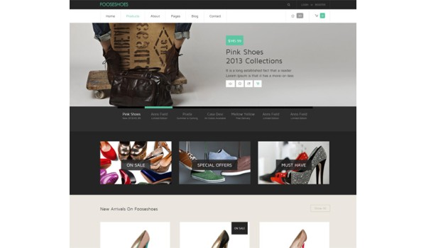 full FooseShoes – a Flat eCommerce Responsive Web Template