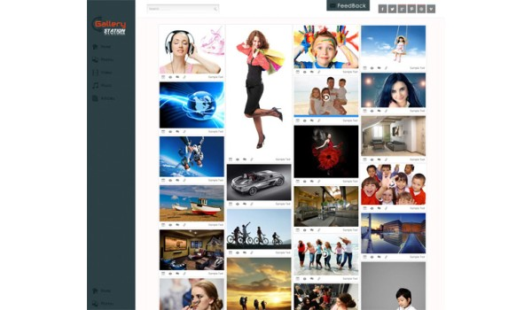full Gallery Station Gallery Mobile Website Template