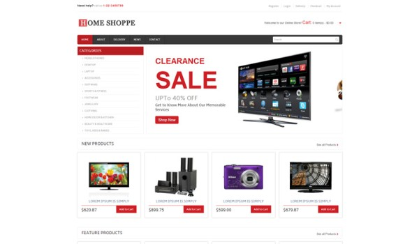 full Home Shoppe E-commerce Online Shopping Website Template