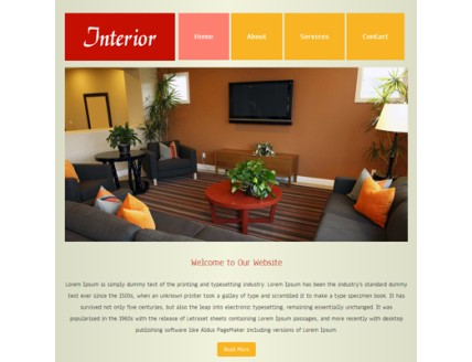 full Interior web template and mobile template