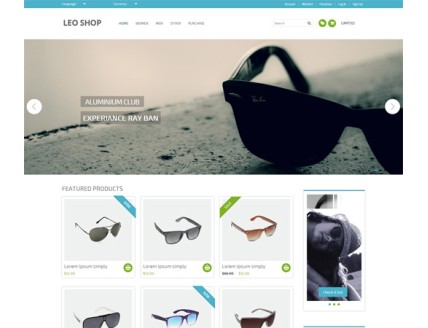 full Leoshop Flat Ecommerce Responsive Web Template