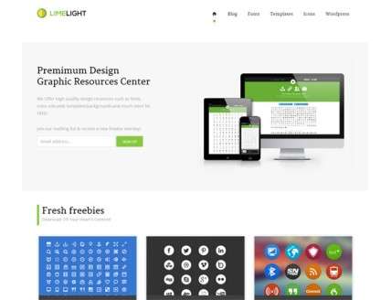 full Limelight Download gallery Mobile Website Template
