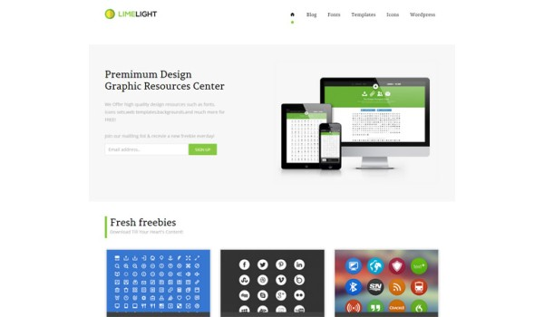 full Limelight  gallery Mobile Website Template