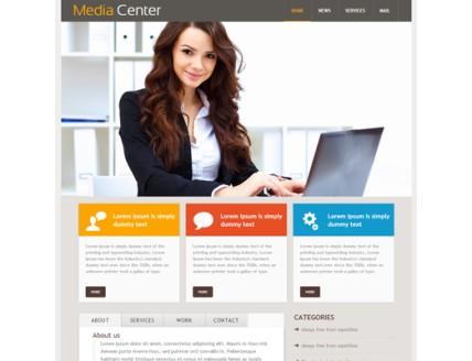 full Media Center Web Temaplate