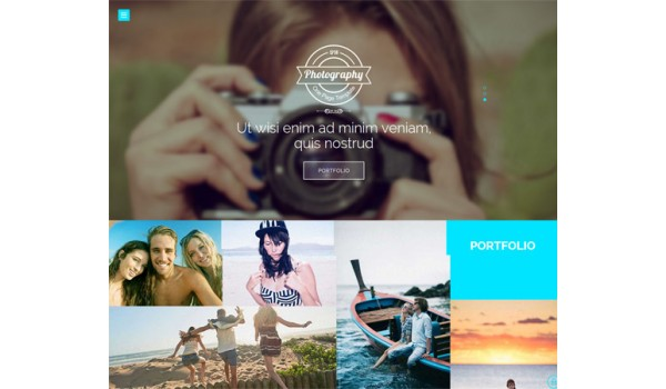 full Photography a Photographers Portfolio Flat Bootstrap