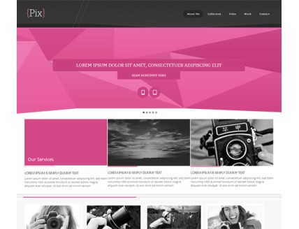 full Pix Photography folio Mobile Website Template