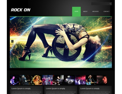 full Rock On online music Entertainment Website Template