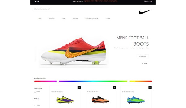 full Spike Shoes a Flat eCommerce Responsive Web Template