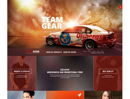 full Team Gear a Flat ECommerce Bootstrap Responsive