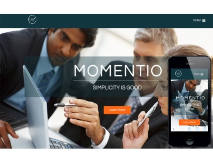Momentio a Corporate Multipurpose Flat Bootstrap Responsive Web Template