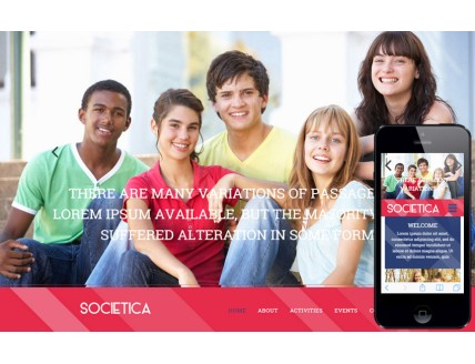 Societica a People and Society Category Flat Bootstrap Responsive Web Template