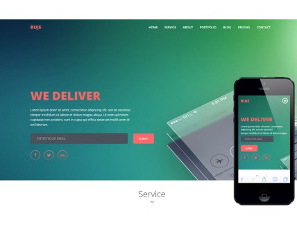full Buje a Mobile App based Flat Bootstrap